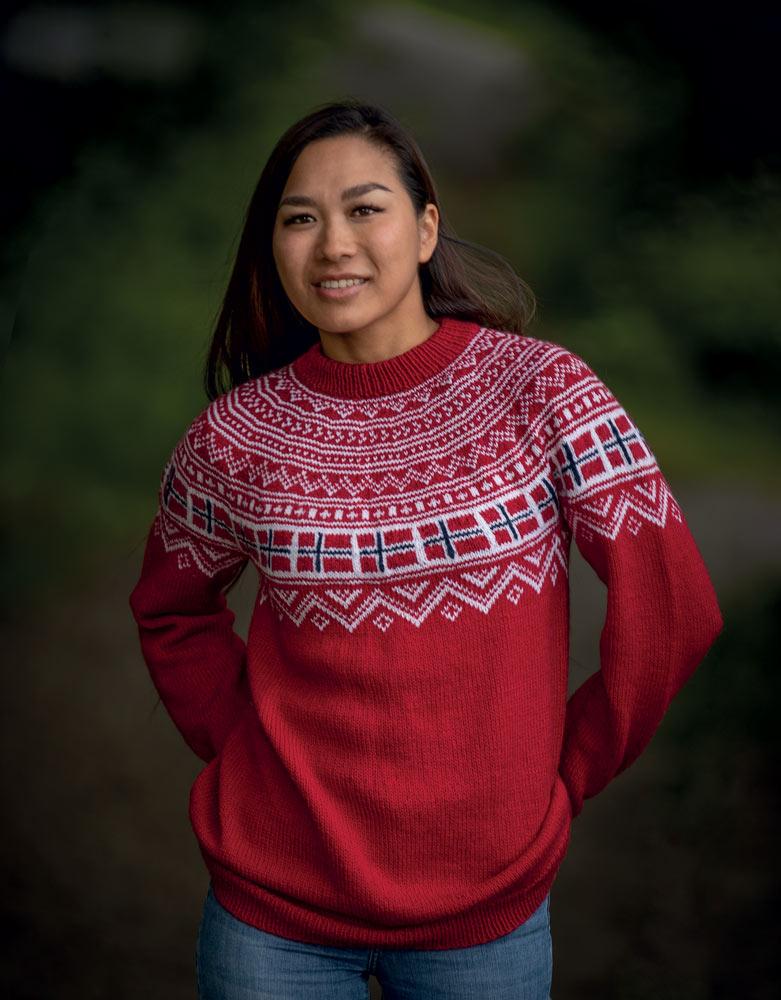 Rundstrikk-bok-Norge-rundt-genseren